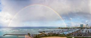 Rainbow Over Honolulu Harbor - Oahu, Hawaii