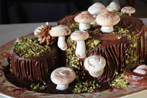 yule log celebration cake