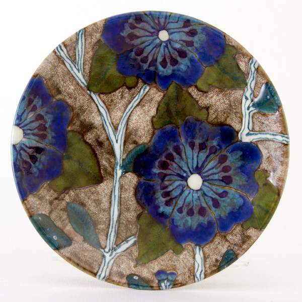 Blue Roses of Sharon Plate