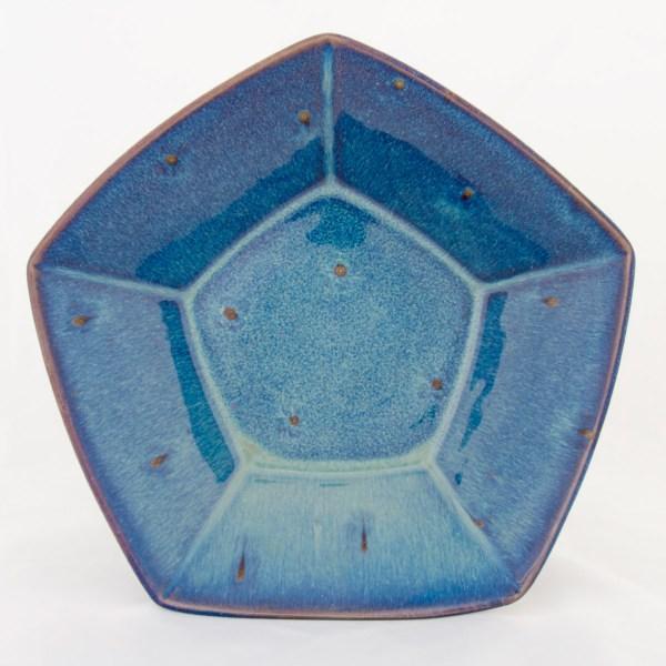 Forget Me Not Pentagonal Bowl
