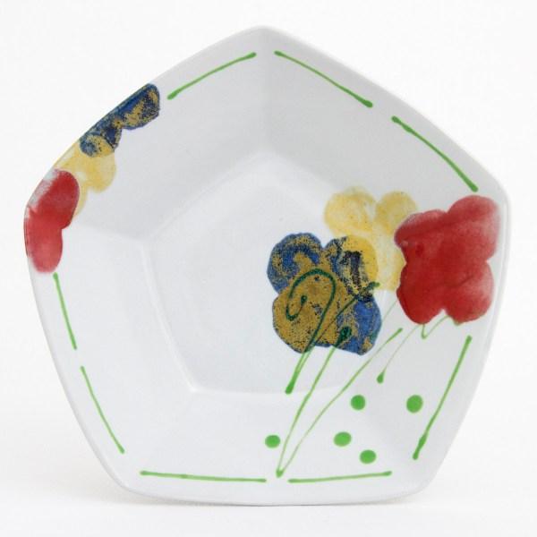 Poppy Pentagonal Bowl