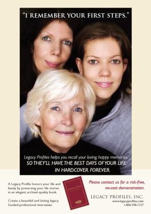 Legacy Profiles magazine ad