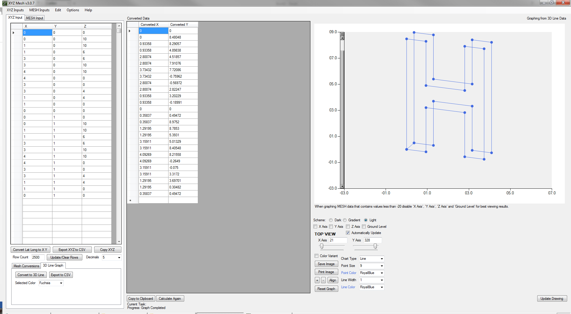 how to graph 3d xyz data inside excel - mesh, surface and scatter plot