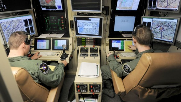 """Drone """"pilots"""" in their control room. A glorified video game where humans, as Wikileaks showed, become mere """"bugs"""" to be """"splattered."""" Where's the honor in all this? (ABC News)"""