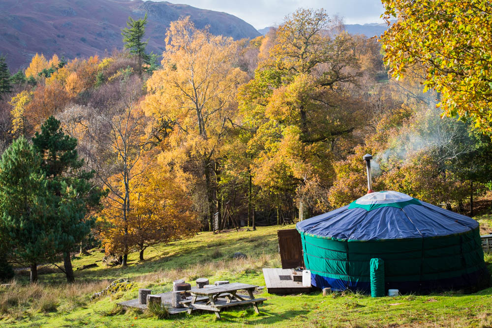 Yurt campsite Ambleside