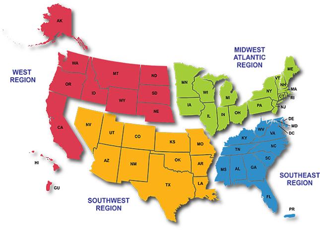 Or wa mt id wy sd nd mn ia ne co ut nv ca az nm tx ok ks mo il wi in oh mi pa ny ky ar la ms al ga fl sc nc va wv tn me vt nh ma. United States Map