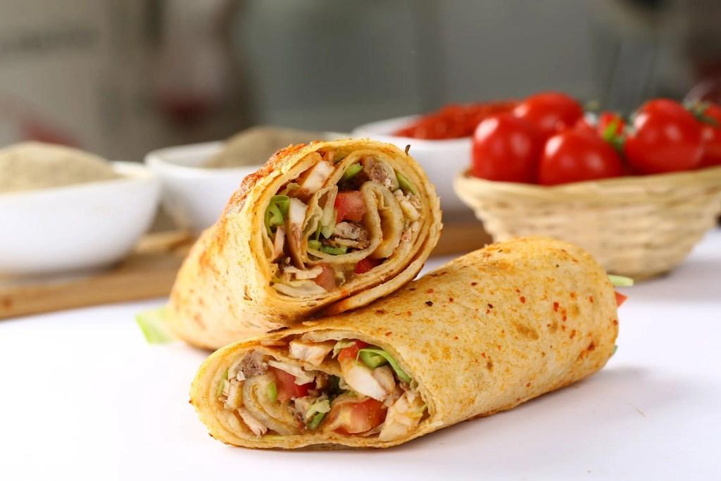 veggie-chicken-wraps