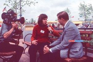 "J.W. ""Bill"" Marriott Jr. is interviewed by Martha Teichner, reporter for Chicago NBC affiliate WMAQ"