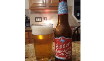 Shiner Homespun Cream Ale: Creamy, Sweet, Acceptable