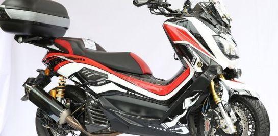 Yamaha Nmax แต่งคาลิเปอร์เบรกหน้าคู่ Brembo! 4 พอร์ต! ตรงรุ่น! ราคา 3,100,000!!! (รูเปียห์)