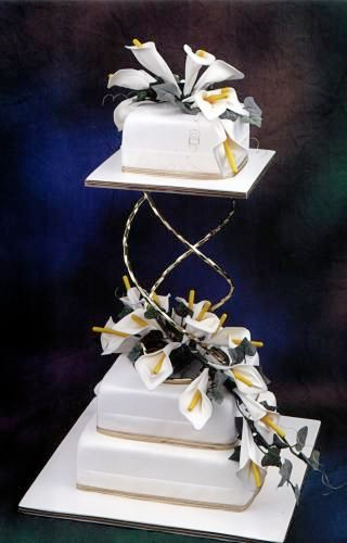 Wedding cake created all from balloons