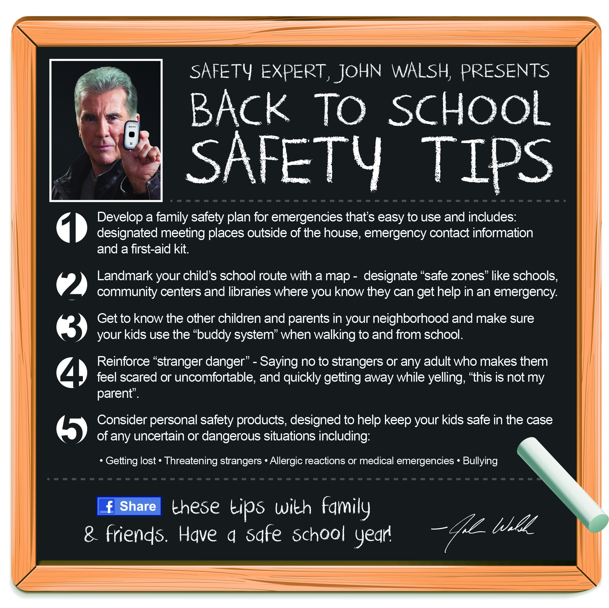 John Walsh Back To School Safety Tips