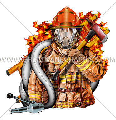 Volunteer Fire Fighter | Production Ready Artwork for T ...