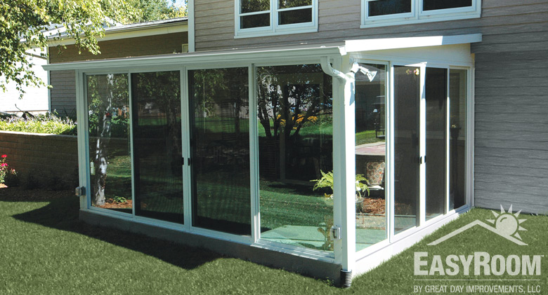 Sunroom DIY Kit Ideas, Designs & Pictures   Great Day ... on Cheap Patio Enclosure Ideas  id=69082