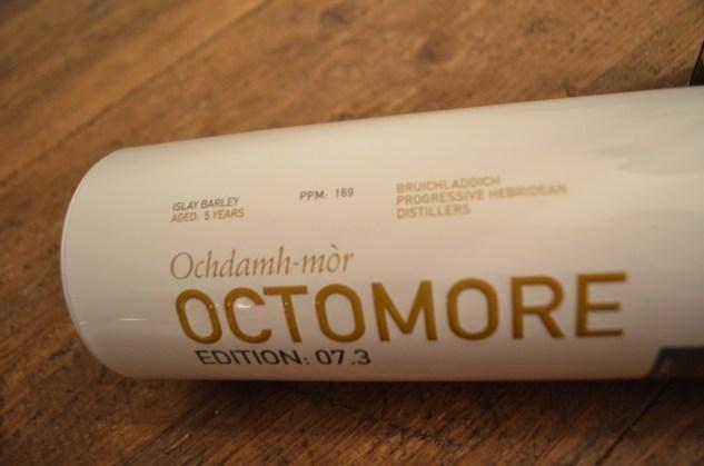 Octomore super-heavily peated single malt whisky