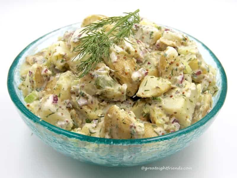 Fourth of July Food for Friends Dill Potato Salad