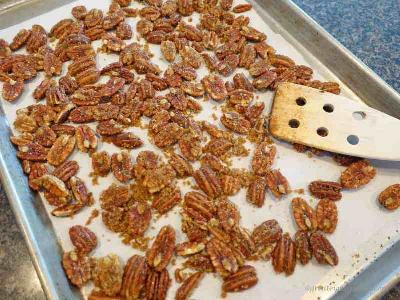 Sugar and Spice Pecans before baking