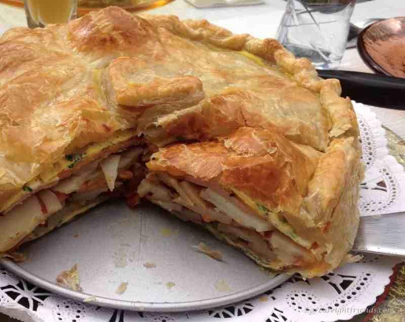 Brunch Omelet Torte Cut