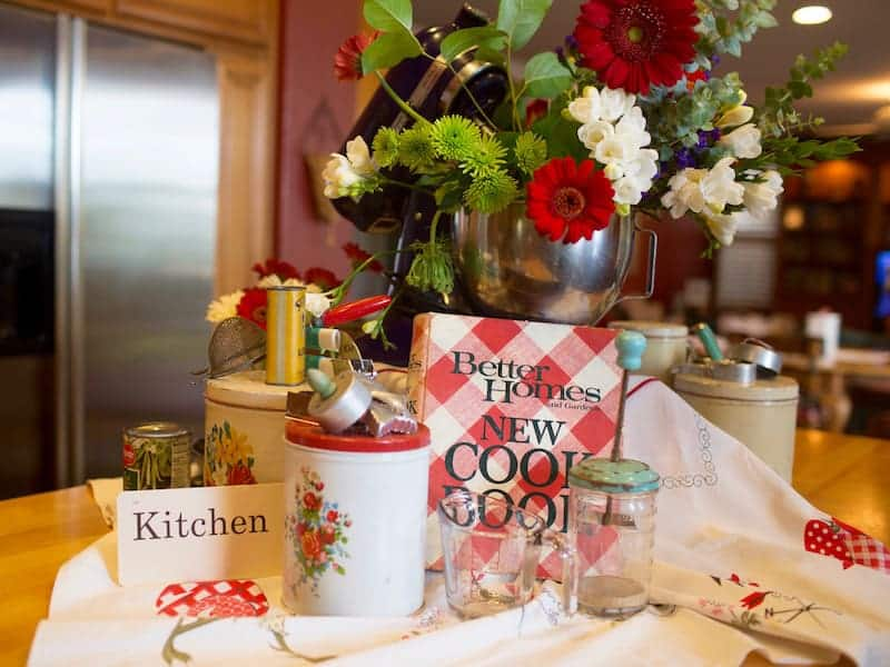 Memories from our Mother's Kitchen Island decor