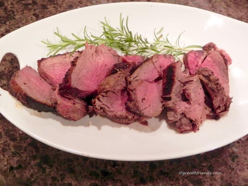 Sliced Grilled Beef Tenderloin