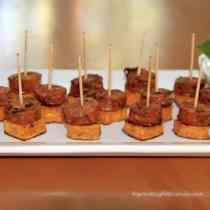 Sweet Potato Squares plated