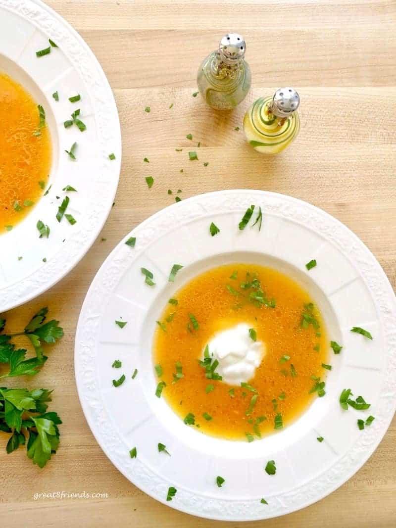 Heirloom Tomato Soup with Greek Yogurt