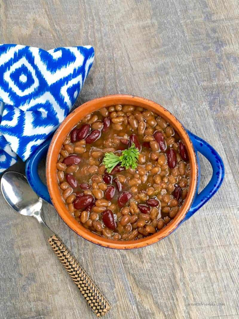 Slow Cooker Baked Barbecue Beans