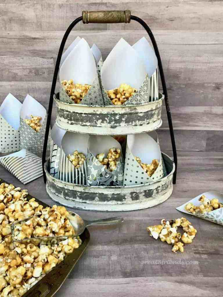 Homemade Caramel Corn with Smoked Almonds and Fleur de Sel