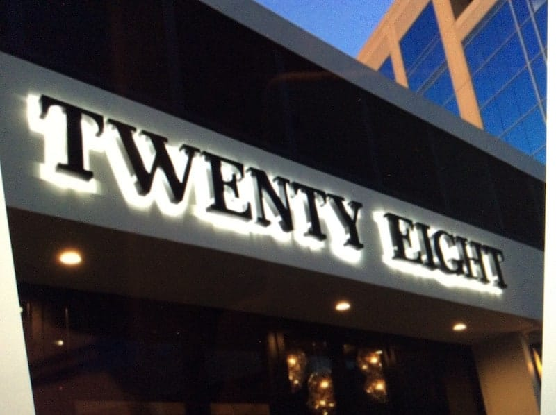 Twenty Eight sign