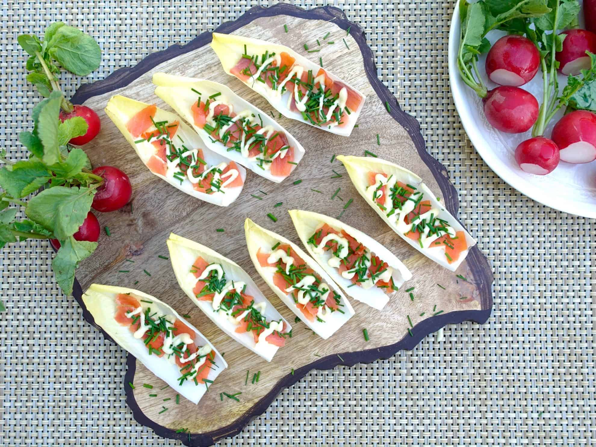 Endive with Smoked Salmon Serving 2