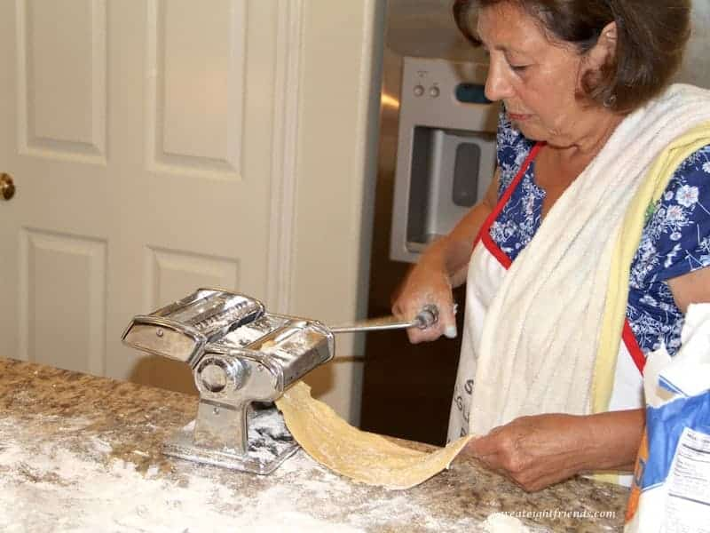 Homemade Pasta Nonna Rolling