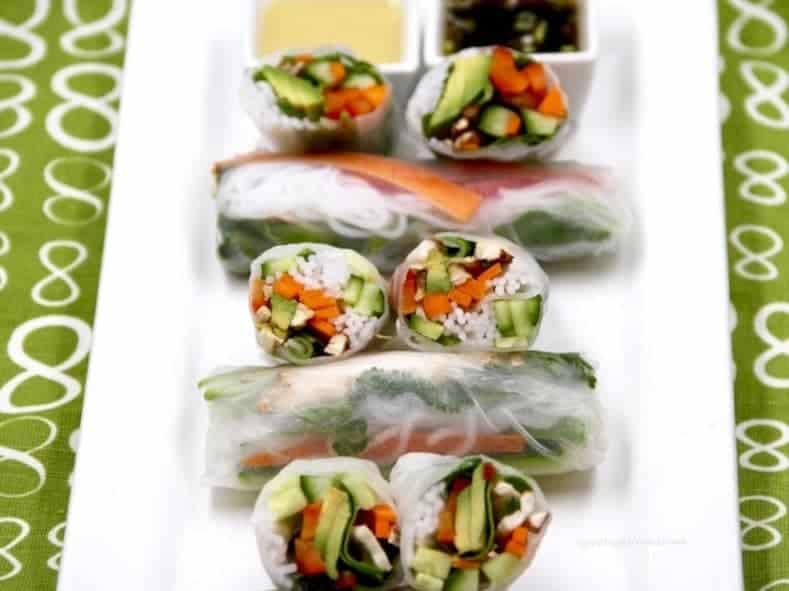 Chinese new year veggie spring rolls 6