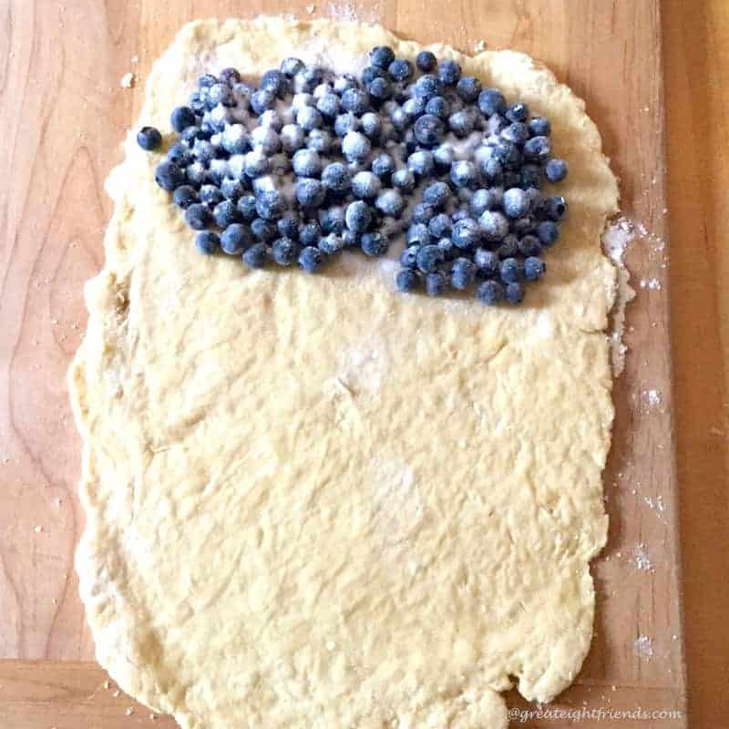 Blueberry Brioche Dough