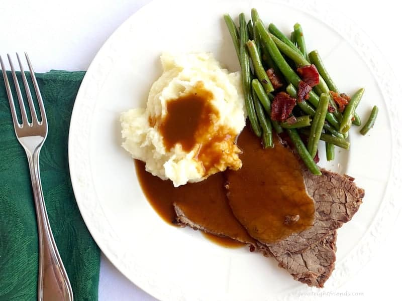 My Mom's Roast Beef Recipe with mashed potatoes is what I always asked for as my birthday dinner. It is just good, comfort food, not fancy but delicious!