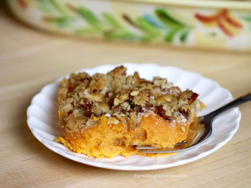 Sweet Potato Casserole piece