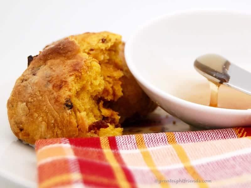 Pumpkin Biscuits honey