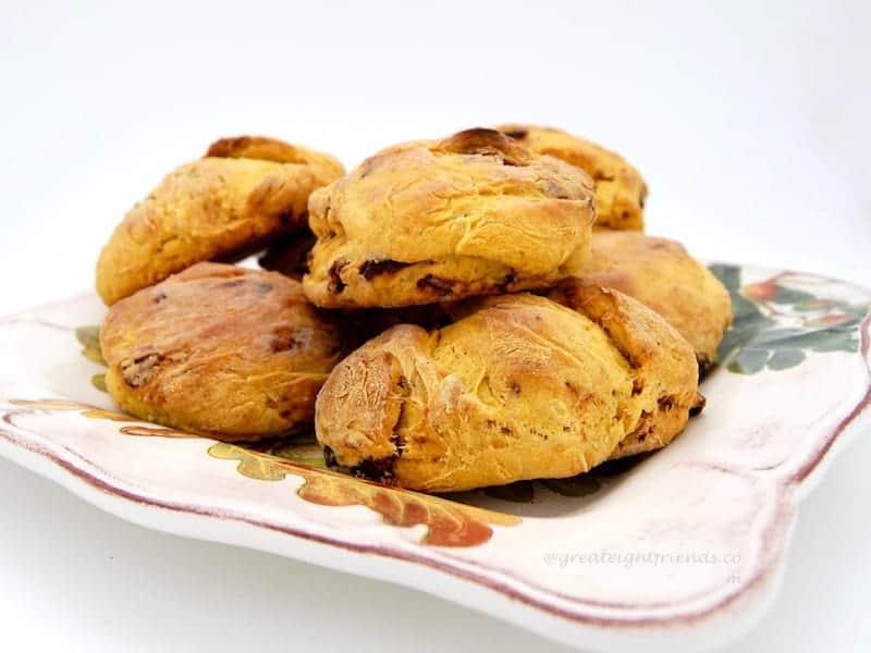 Pumpkin Biscuits plated 1