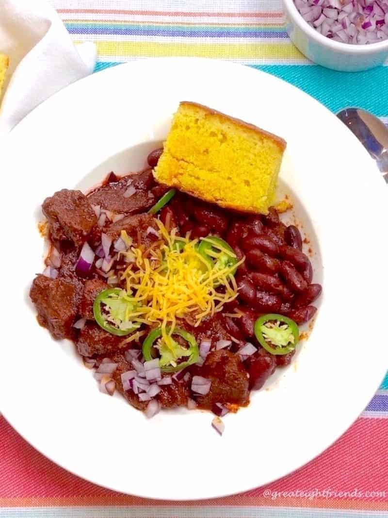 Scott's World Class Chili can be made early and simmered for hours or frozen for later. Either way, your family and friends will love it!
