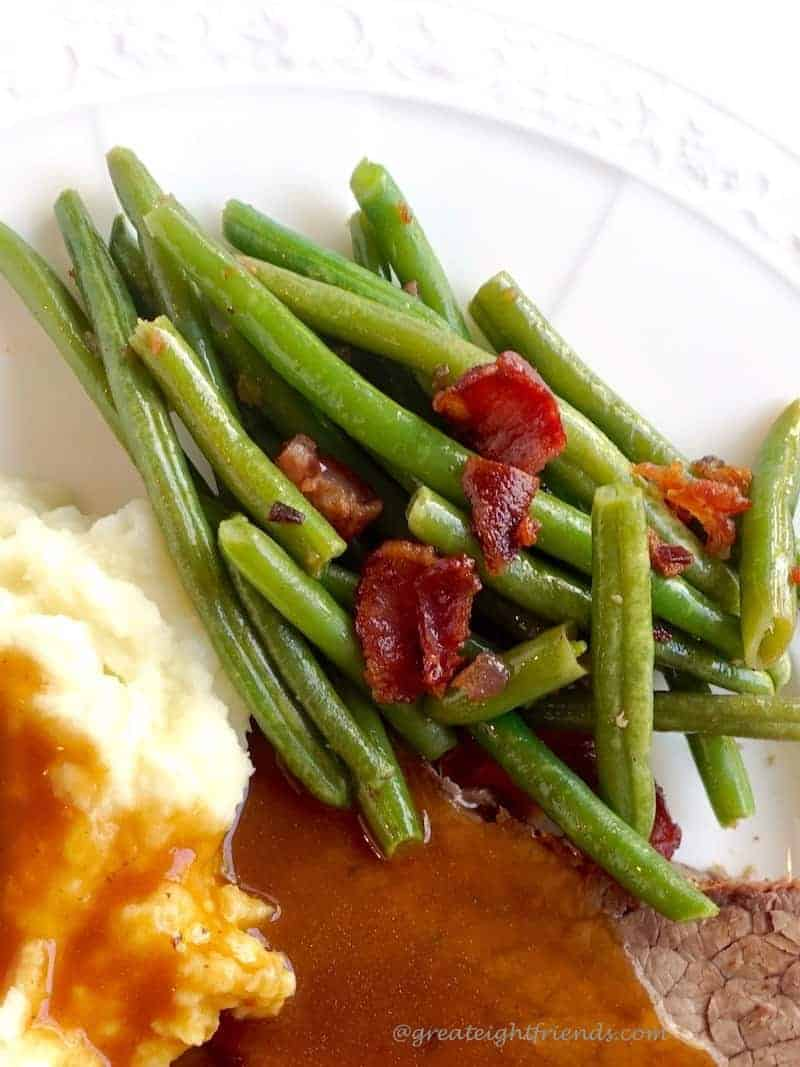 Green Beans, bacon Serving
