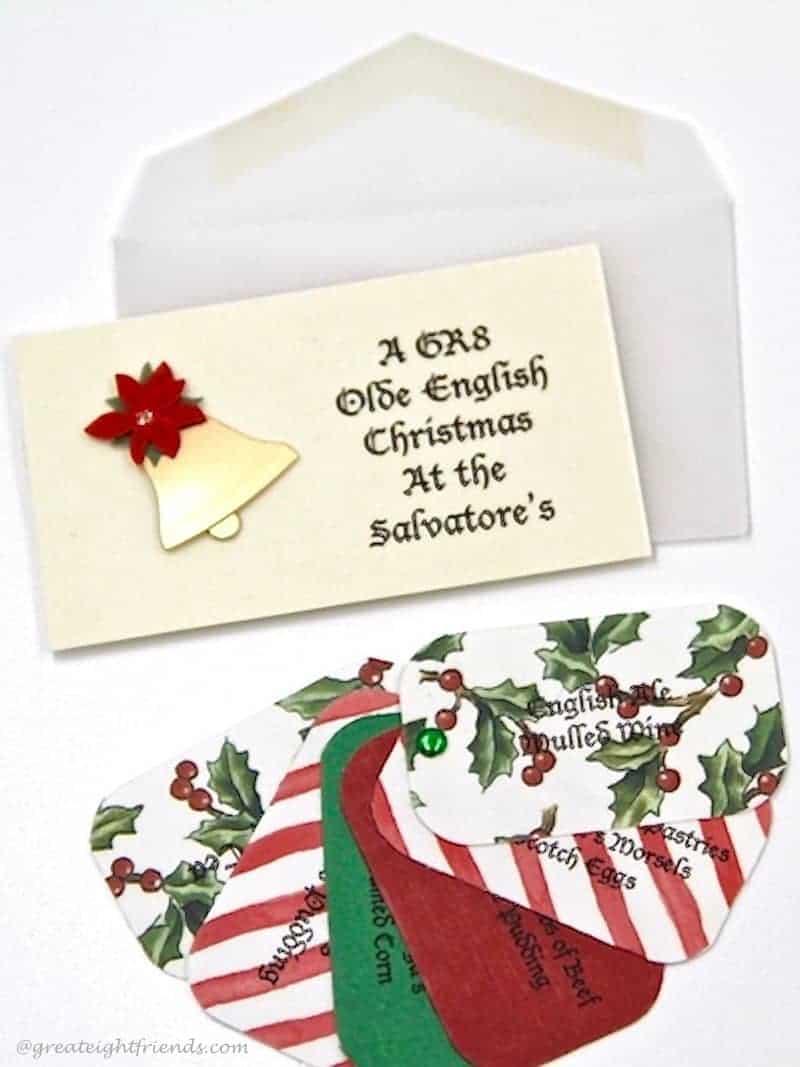 Olde English Christmas Dinner Invite