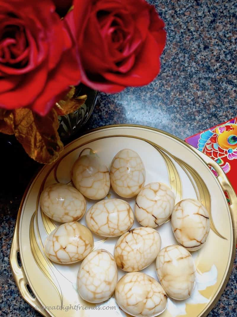 Chinese new year Chinese tea eggs