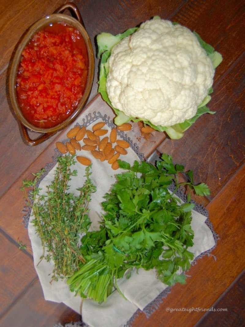 Roasted Cauliflower ingredients