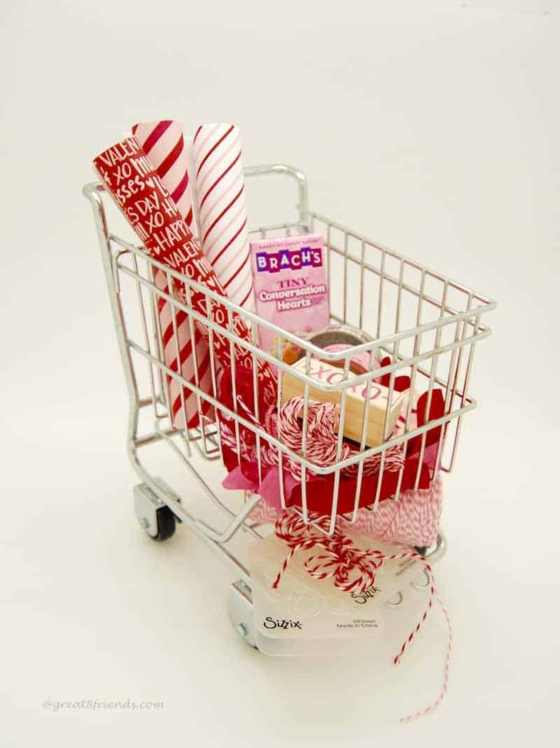 Valentine's Wrapped with Love Shopping Cart
