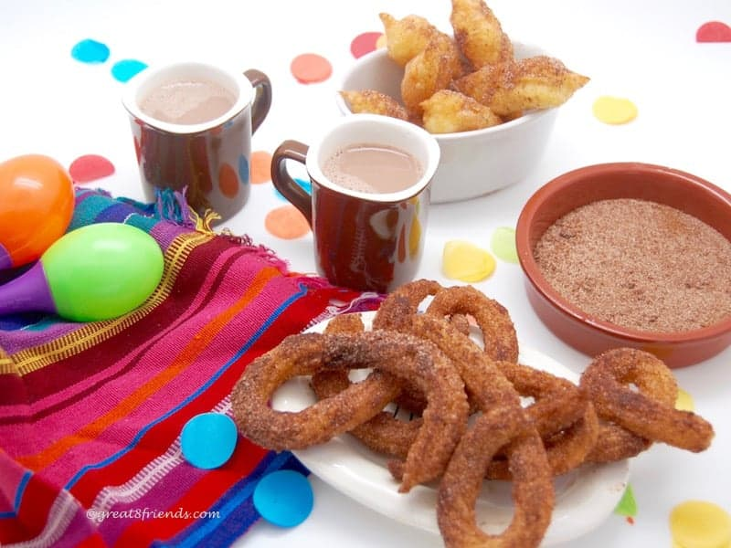 Churros with bowl of Cinnamon