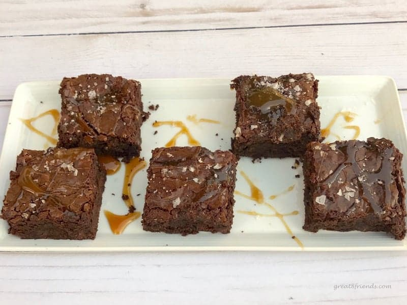 If you love chocolate, caramel and salt then you will love Ina's Salted Caramel Brownies and Espresso Ice Cream for a perfect dessert!
