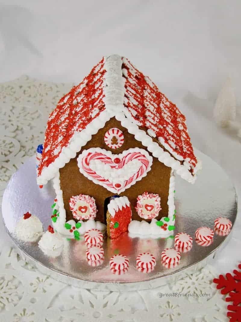 A Diy Festive Gingerbread House Great Eight Friends