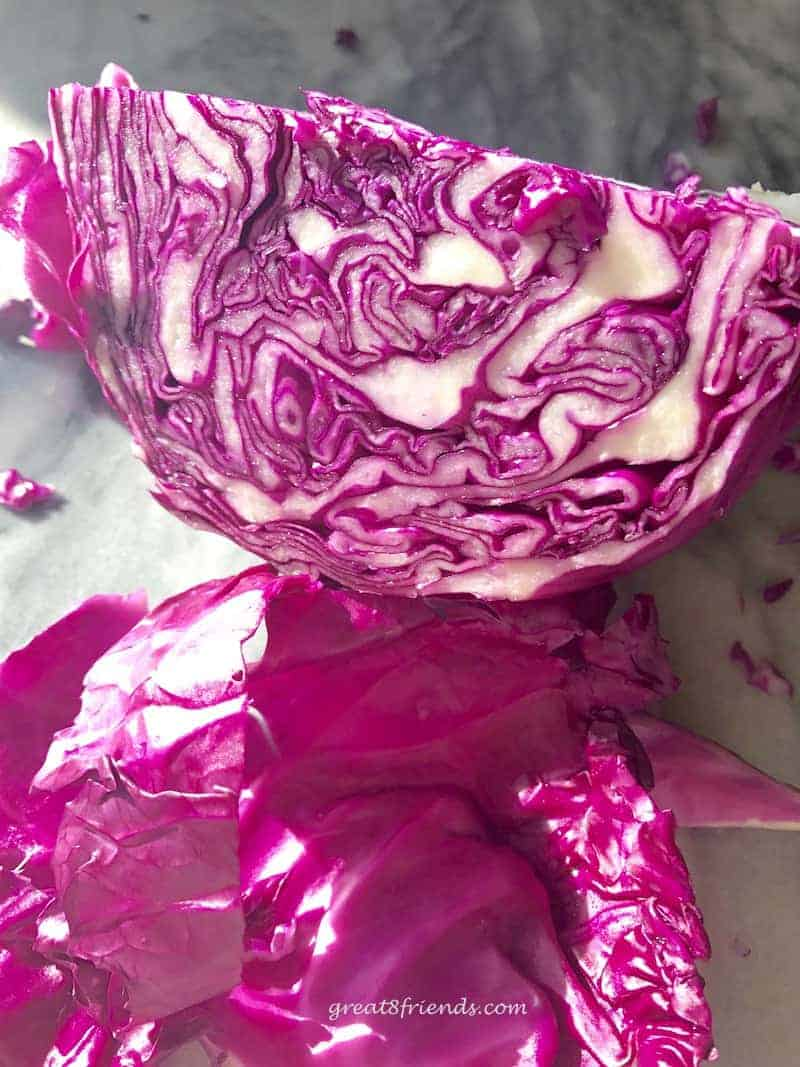 This Red Cabbage Rødkål is a colorful, very flavorful side dish often served at a Danish Christmas dinner but we will serve this dish anytime!
