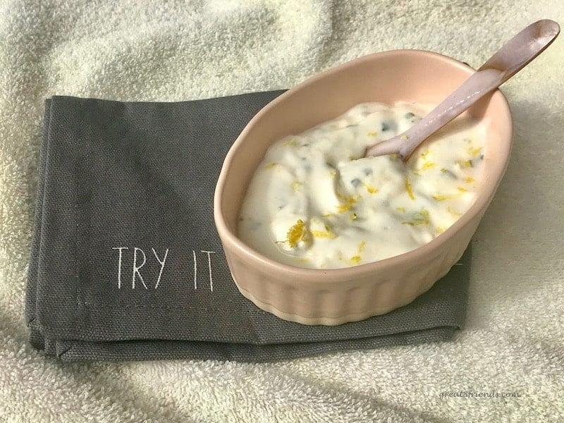 Tangy Lemony Yogurt Sauce