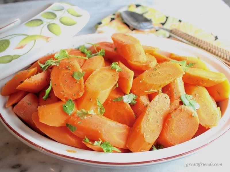 Simple Honey Glazed Carrots.