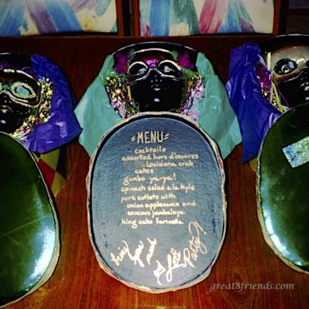 Mardi Gras dinner Party Invitation
